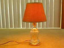 Vintage Clear Cut Glass Crystal Table Lamp,shade and bulb not included,for demo