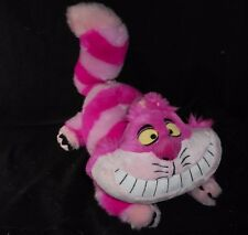 "17"" DISNEY STORE ALICE IN WONDERLAND CHESHIRE CAT STUFFED ANIMAL PLUSH TOY PINK"