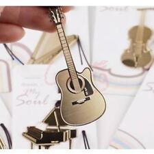 Guitar Golden Metal Clip Bookmark Stationary Book Mark Label Creative Gift