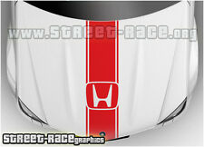 Bs1201 HONDA COFANO RACING strisce grafica decalcomanie adesivi CIVIC ACCORD CRV