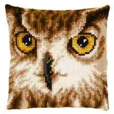 Owl Close-Up - Large Holed Tapestry Cushion Kit/Printed Chunky Cross Stitch