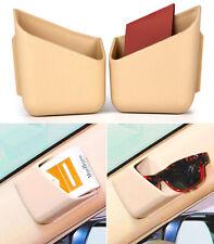 2x Universal Beige Car Auto Accessories Phone Organizer Storage Bag Box Holder