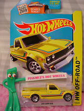 htf 2015 Hot Wheels DATSUN 620 pickup truck #125∞Kmart Exclusive YELLOW∞
