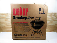 Vintage 1982 Weber Smokey Joe Charcoal Grill # 10001 Black New In Box NOS