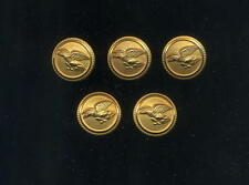 5 Pilot uniform button pin civil aviation aviazione generale no wings badge aa
