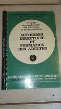 DANIEL CHEVROLET - Méthodes directives et formation des adultes - E.S.F (1979)