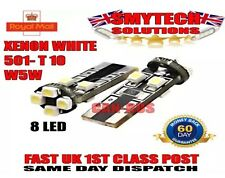 X2 501 T10 W5W Xenon White 8-LED Number Plate Bulbs Canbus No Error VW GOLF MK 6
