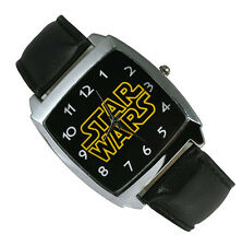 Star Wars Fashion Boy Man WRIST STEEL WATCH Black ZSW