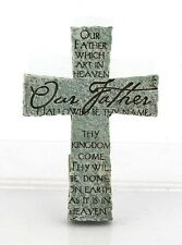 Our Father Lord's Prayer Cross Stone Resin Magnet - Christian Gift