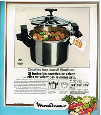Publicité Advertising 1974 La Cocotte Inox Massif Moulinex