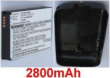 Coque Noir+ Batterie 2800mAh type RHOD100 RHOD160 Pour HTC Touch Pro 2