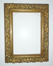 LARGE DEEP ANTIQUE VICTORIAN PICTURE FRAME 1880's Wood & Gesso