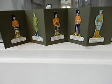 WW1 AUTHENTIC TROOPS  CIGARETTE CARDS X 5 CRAYOLA  KARAM 85 mm tall (five)  C