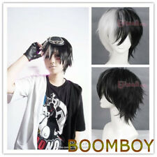 FREE SHIPPING Dangan Ronpa monokuma 30cm short Black&white cosplay HAIR wig
