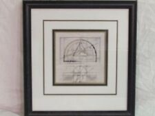 """7"""" x 7"""" Artistic Impressions nicely matted glass framed geometric design  print"""