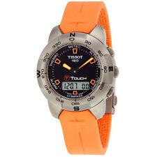 Tissot T-Touch Titanium Analog/Digital Multifunction Orange Rubber Mens Watch