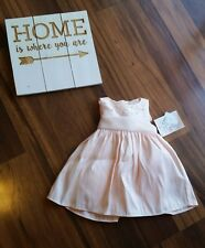 Baby Girl My Princess Dress Peach Pearl Party Formal Wedding NWT $50 9 month