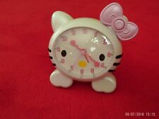 2011 - HELLO KITTY ALARM CLOCK - SANRIO - BATTERY OPERATED