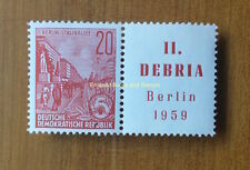 EBS East Germany DDR 1959 DEBRIA Stamp Show se-tenant MNH Michel 580 W Zd 19 **