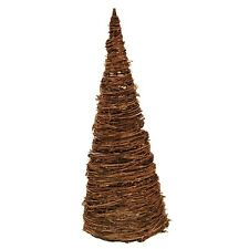 """48"""" Tall Natural Grapevine Christmas Tree w/ 13"""" Base - Outdoor Yard Decoration"""