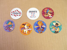 T.G.I.F. POGS COMPLETE SET of ALL 7 AWESOME SET RARE NOT MANY GIVEN AWAY