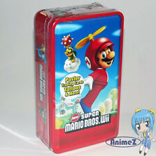 NEW SUPER MARIO BROS. Wii Trading Card Collector's Tin feat. Mario *New*