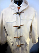 Immaculate White Gloverall 100% Wool Duffle Coat  UK 16 EU 42 BSI 38