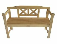 New Outdoor Home 2 Seat Seater Wooden Garden Bench wood Furniture Patio Park