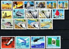 Rhodesia Definitive Issues of 1970 Scarce Complete Set of 19 Postally Used