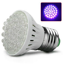 Ultra Bright E27 38 LED UV Ultraviolet Purple Light GLOW Lamp Garden Bulb Lamp