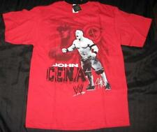 NWTS WWE WRESTLING BOY'S JOHN CENA RED T-SHIRT SIZE 6/7 SMALL