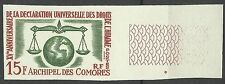 Comores Comoros Droits Homme Human Rights Non Dentele Imperf Essay Probe ** 1963