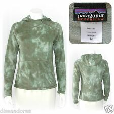 PATAGONIA SYNCHILLA made in USA - Camo green hooded pullover fleece sweater - M