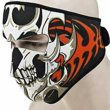 US Warm Motorcycle Bike Cycling Half Face Mask Skull Ski Snow Headwear Neoprene