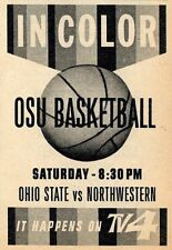 1962 WLW-T TV AD'S~OHIO STATE BUCKEYES BASKETBALL~ED JUCKER & PAUL SOMMERKAMP