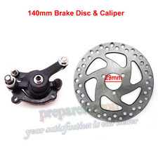 140mm Rear Disc Brake Rotors Caliper Kit Gas Mini Dirt Bike ATV Electric Scooter