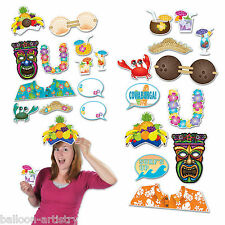 12 tropical hawaïen luau tiki summer party hand held photo booth signs props