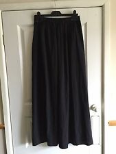 Ladies Long Black Slinky Maxi Skirt - Size 8 - Atmosphere - VGC - Gothic