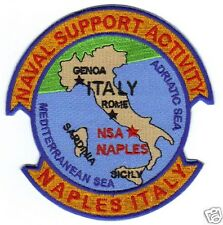US NAVY BASE PATCH, NAPLES ITALY, NAVAL SUPPORT ACTIVITY,                    Y