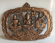 Laxmi Ganesh Saraswati Hindu God Wall Hanging Home Decor Ganesha Entrance Diwali