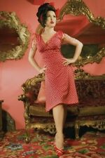 "Pin Up Girl Clothing brand ""Anna"" dress red/white polka dot - XXL"