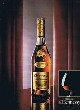 PUBLICITE ADVERTISING 035 1980 HENNESSY cognac