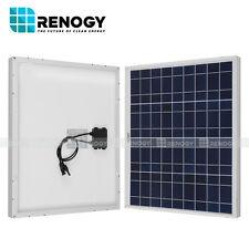 Renogy 50W Watts Solar Panel Polycrystalline Off Grid 12V RV Marine Boat
