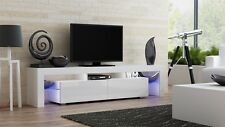 """Milano 200 White-Modern TV Cabinets for up to 90""""Screens/TV Entertainment Center"""