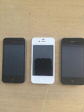 3 IPHONES IMEI LOCKED 4 16GB  4 32GB  4S 64GB WILL WORK OUTSDIE AUSTR READ BELOW