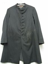 W3277 Pettibone 1910's Military Black Surplus Cassock Button Up Coat Men S sz36