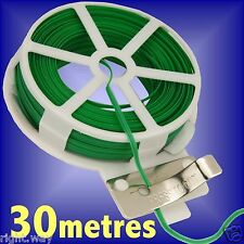 2PCs 30M Garden Twist Tie Wire Reel With Cutter Plant Bush Flower Strong Support