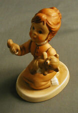 GOEBEL BISQUE LITTLE GIRL HOLDING A LEG BROKEN OFF HER TEDDY BEAR PLEASE BY HOLT
