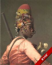 BLACK WARRIOR SOLDIER OF THE Ottoman Empire GEROME CANVAS GICLEE 8X10 ART PRINT