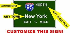 PERSONALIZED Mini Interstate Sign, ANY INTERSTATE #, ANY DIRECTION, ANY TOWN